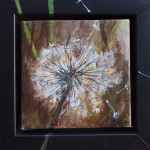 "60. ""Little brown dandelion"" 10 x 10 cm. 850,- kr."