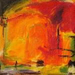 """9. """"Summergarden I"""" 10 x 10 cm. 800,- kr."""