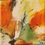 """95. """"Summergarden III"""" 10 x 10 cm. 800,- kr"""