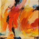 """97. """"Summergarden V"""" 10 x 10 cm. 800,- kr."""