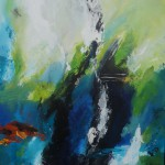 "42. ""Rain in Spain"" 50 x 50 cm. 3500,- kr."