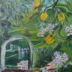 """19. """"Butterfly in Spain"""" 30 x 30 cm. 3500,- kr."""