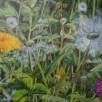 """15. """"Happy butterfly"""" 80 x 60 cm. 7000,- kr."""