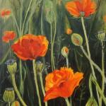 """93. """"Poppy IV"""". 30 x 40 cm. 3200,- kr."""