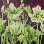 """4. """"Green tulip puzzle"""" 50 x 40 cm. 4500,- kr."""