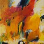 "2. ""Yellow face"" 20 x 20 cm. 1700,- kr."