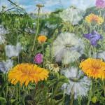 """11. """"Smilin dandelion"""" 100 x 100 cm 8800,- kr."""