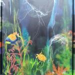"32. ""Playing jellyfish"" 60 x 80 cm 6800,- kr."