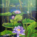 "35. ""Turtle and waterlilies""           60 x 80 cm 6800,- kr"
