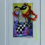 """101. """"Bird with big trousers"""" Pris: 1000,- kr."""