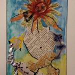 """104. """"Lion on dalmatinercarpet"""" Pris: 1000 kr."""