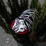 """""""Glad zebra"""" Pris: 250,- kr."""