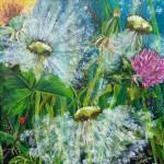 "22. ""Smiling dandelion"". 60 x 60 cm. 5500,- kr."