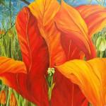 """17. """"Big tulip"""" 80 x 80 cm. Pris: 7000,- kr."""
