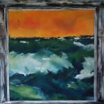 """5. """"Ocean in frame"""" 80 x 80 cm. 7500,- kr."""