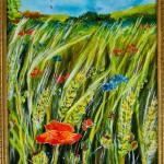 """Sommer"" i gammel ramme ca 13 x 18 cm. Pris: 800,- kr."